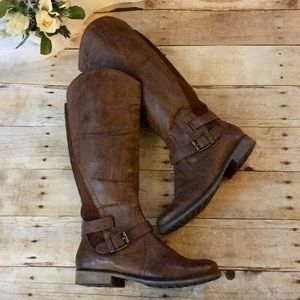 BareTraps Seduce Brown Riding Boots Size 9.5